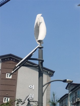 Helix Wind Turbine for Streetlight Use 100W 200W 300W 400W 500W 600W